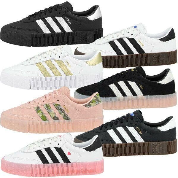 Adidas Sambarose Women Schuhe Damen Originals Leder Freizeit ...