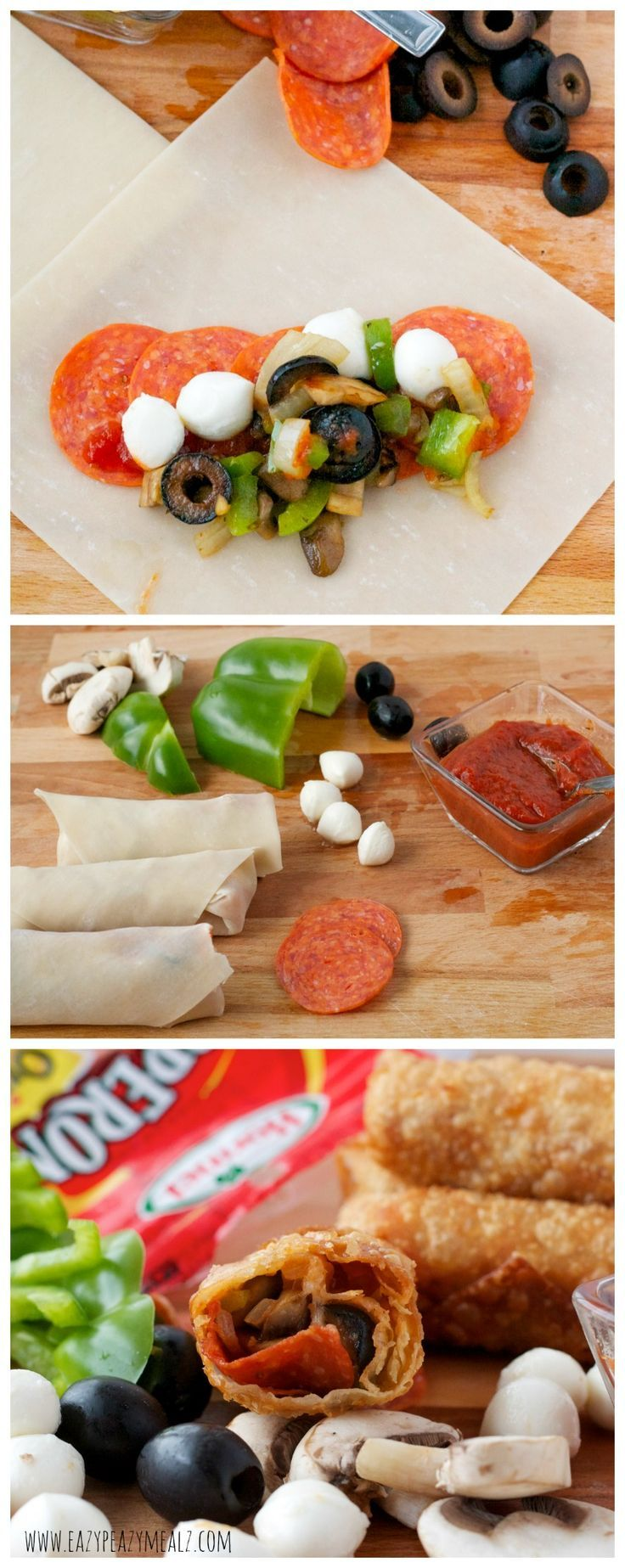Hormel Pepperoni and Veggie Egg Rolls: A fun new twist on pizza that you can pack with veggies for a tasty, and good for you meal! #ad - Eazy Peazy Mealz