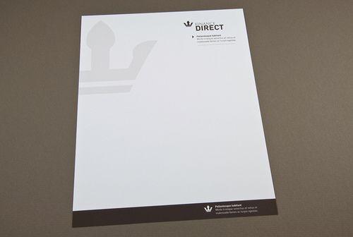 Professional Letterhead | ... showcased on inkd com this professional letterhead is appropriate