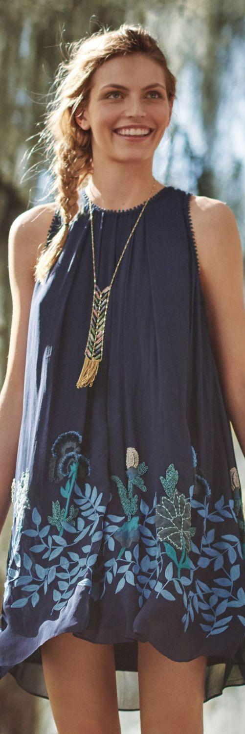 Anthropologie Woodvine Swing Dress