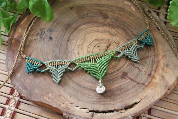 Ethnic necklace macrame