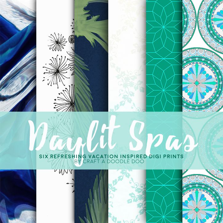 Free Printable Daylit Spas Digital Paper Collection from Craft A Doodle Doo #free #digital #scrapbooking
