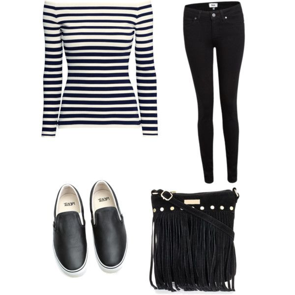 A fashion look from February 2015 featuring H&M tops, Paige Denim jeans and Vans sneakers. Browse and shop related looks.