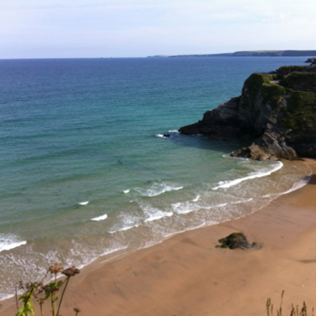 Great Western beach, Newquay.  21st July, summer begins.