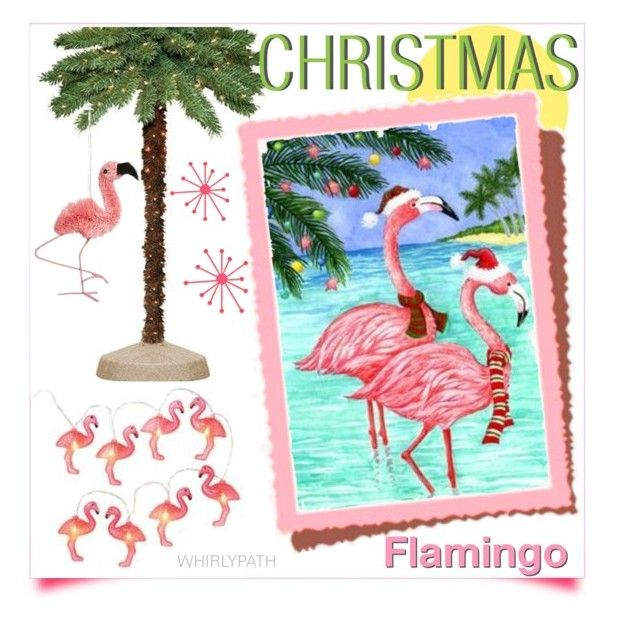 Christmas Flamingo! by whirlypath on Polyvore featuring interior, interiors, interior design, home, home decor, interior decorating and General Foam