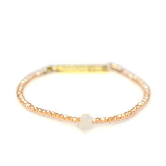 Soul Sparkle Bracelet - Champagne & Citrine    These elegant adornments incorporate a unique geological element designed to connect with your pulse point. With each heartbeat own your intentions and empower their vibrations with the crystal.