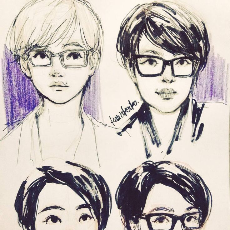 [Homework] attempting to draw a self portrait  #drawing #sketchbook #art #sketch #self #portrait