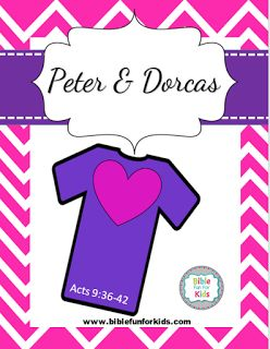 Peter & Dorcas lesson, printables & more #Biblefun