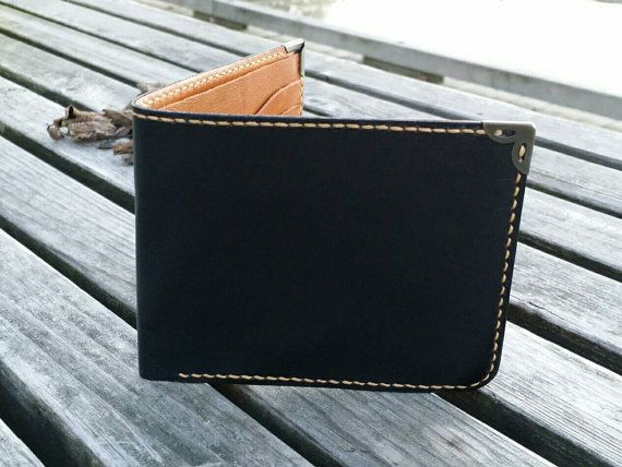 leather wallet two-toned / mens wallet / womens door NHLdesign