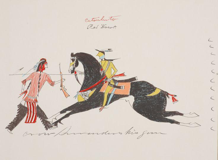 Рисунок из бухгалтерской книги неизвестного художника Кроу. Период 1850-1880 гг. Коллекция Elizabeth Cole Butler.