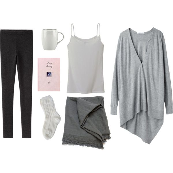 A fashion look from October 2013 featuring Alexander Wang cardigans, La Garçonne Moderne leggings and Uniqlo camis. Browse and shop related looks.