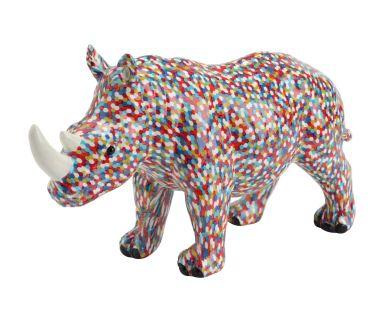 """Figurka dekoracyjna """"Rhino Pixel"""", 25 x 9 x 15 cm"""