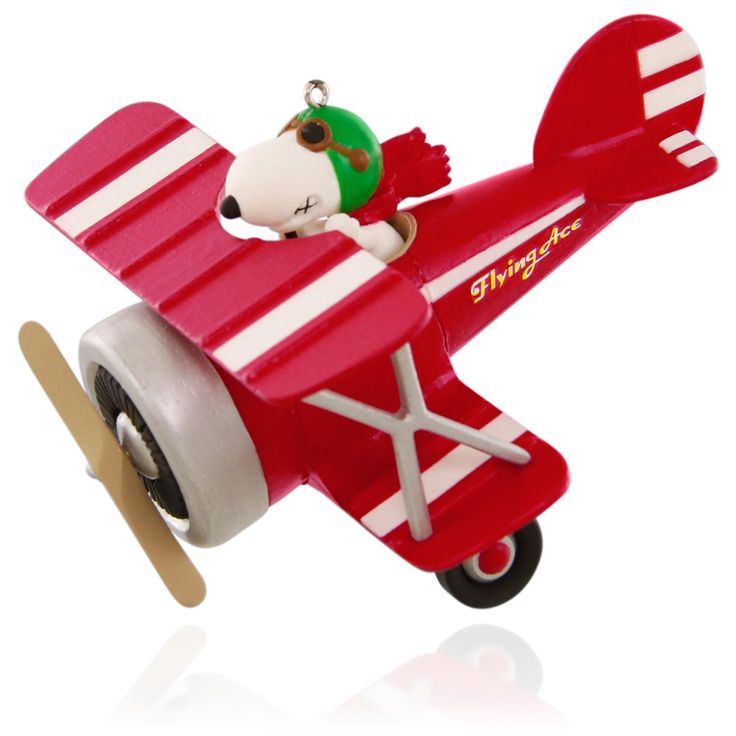 Peanuts Flying Ace Snoopy's Red Plane Ornament.   Available:  July 2015  $19.95