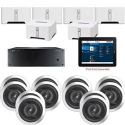 6 Zone High-Powered Audio with 6 Sonos Players & App Control