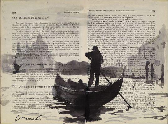 ink-drawing-venice-gondole.jpg (540×400)