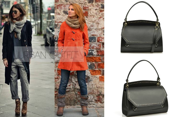 Black studded leather bag for a chic or comfy outfit @wil