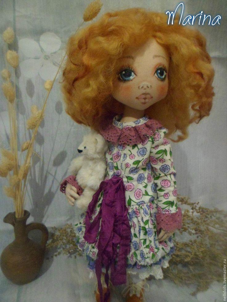 Купить Marina - ручная авторская работа, кукла ручной работы, кукла интерьерная, кукла текстильная