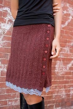 Chelsea Skirt Pattern - free on Ravelry. - love. I bet it could be made from a recycled sweater too...