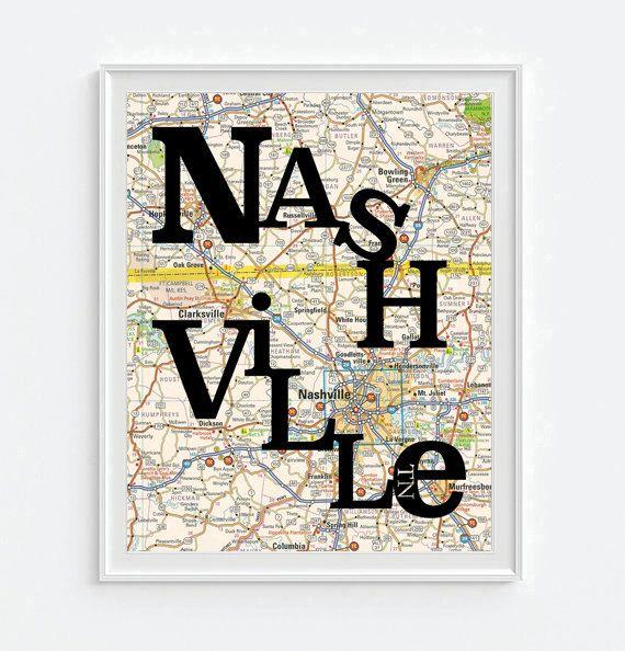 Nashville Tennessee. Etsy