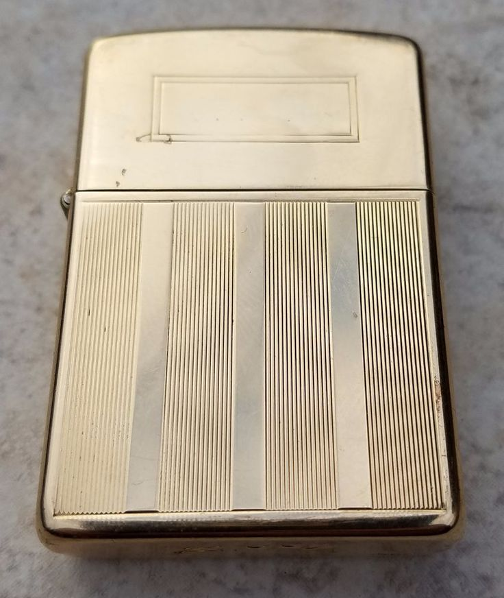 ESTATE 14K YELLOW GOLD ZIPPO LIGHTER! SOLID GOLD ART DECO DESIGN SCRIPT ZIPPO #Zippo #ArtDeco