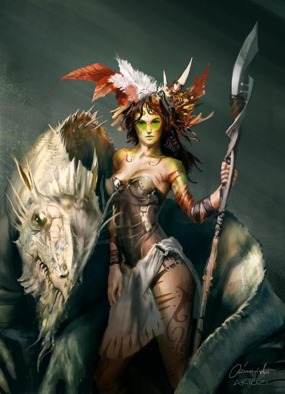 картинки амазонки и драконы фотографию