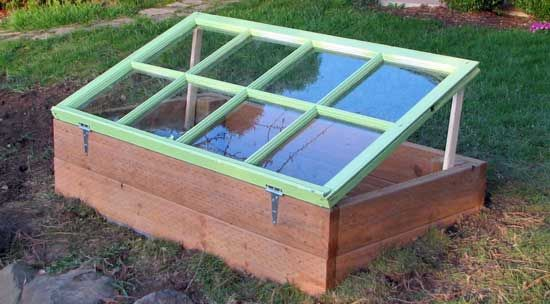 Recycled window cold frame. Beautiful and useful for a possible 4-season harvest.