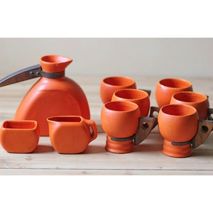 Midcentury Stoneware Orange