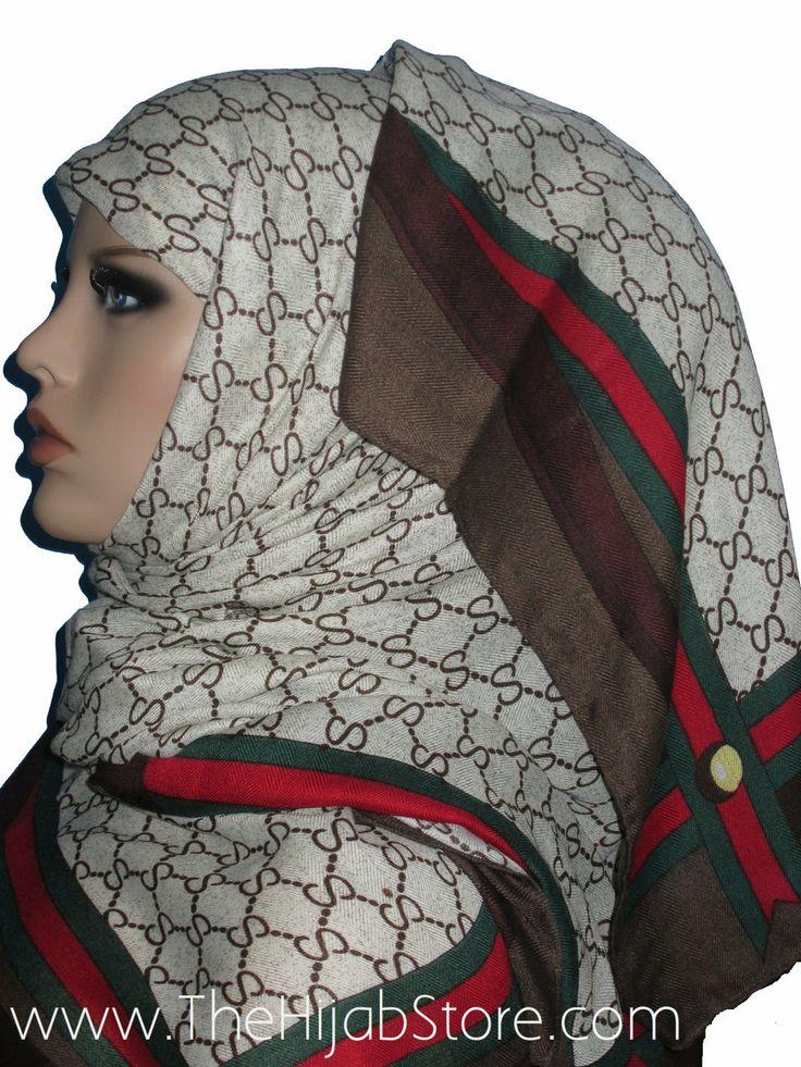 TheHijabStore.com - Dark Brown GC-Designer Inspired Fashion Hijab-Horsebit SS Pattern Scarf, $15.99 (http://www.thehijabstore.com/dark-brown-gc-designer-inspired-fashion-hijab-horsebit-ss-pattern-scarf/)