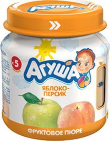 Пюре Агуша яблоко персик с 4 месяцев  — 36р. ------------------- Пюре яблочно-персиковое протертое. Предназначено для питания детей с 4 месяцев. Продукт пастеризован. Без сахара.