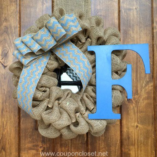 how to make burlap wreath finished