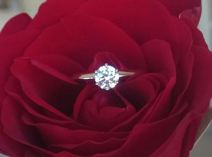 Tiffany & Co 0.51ct G/VS2 Diamond Solitaire Classic 6 Prong Engagement Ring