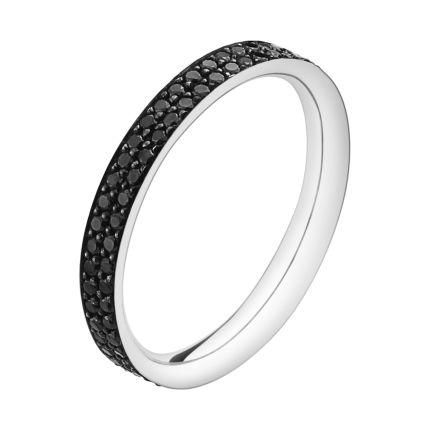 Georg Jensen | MAGIC ring | 18 kt. white gold with black diamonds