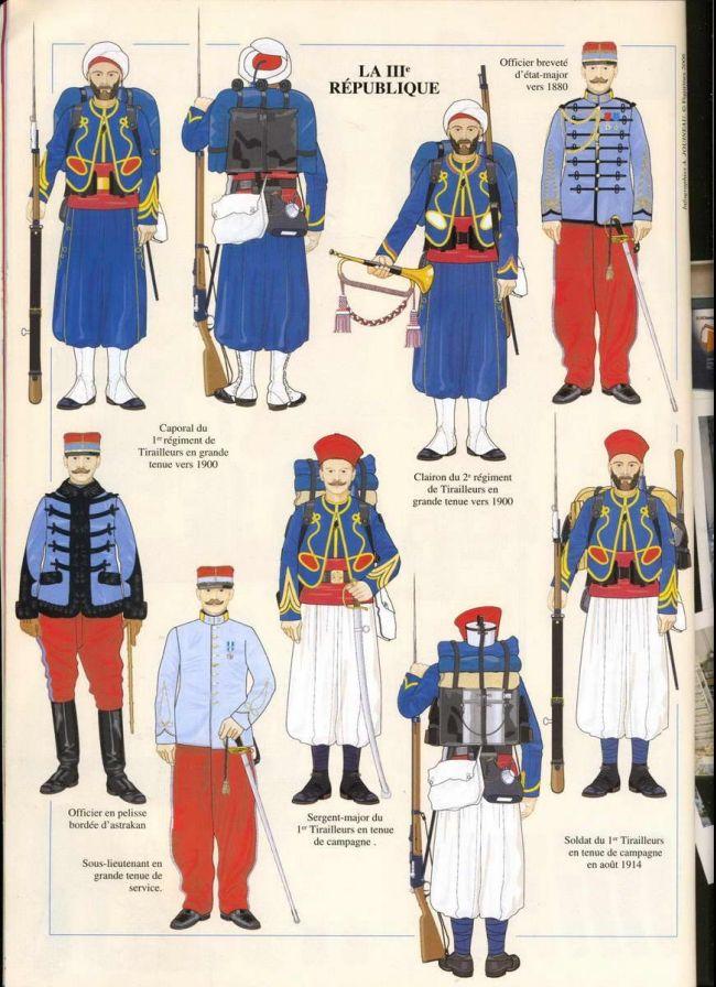 French; Tirailleurs Algerian 1880-1914.