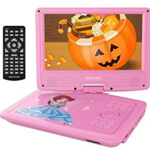 "DBPOWER 9"" Portable DVD Player for Kids with Rechargeable Battery"