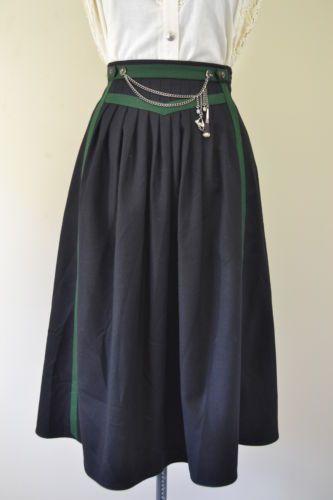 Trachten German Bavarian Oktoberfest Dirndl Skirt Wool Prairie Western Steampunk