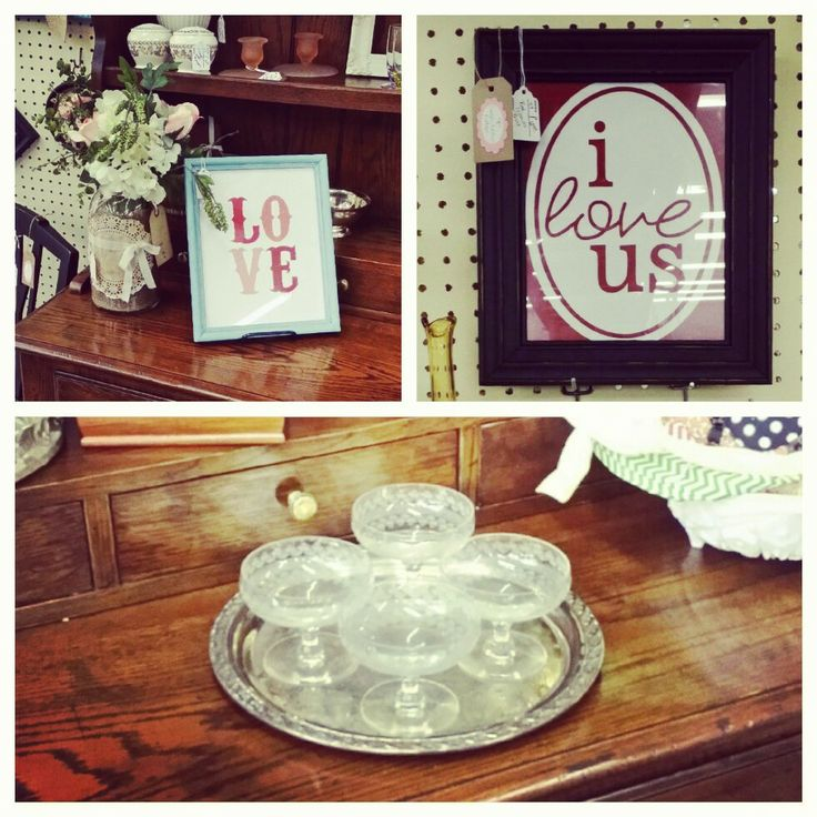 sweet framed printables..vintage glass...silver trays...love it all! www.sweetashleyscottage.com