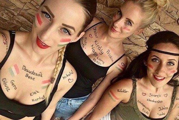 Takie śliczne węgierki kibicowały swoim piłkarzom podczas Euro 2016 • Piękne kobiety trzymały kciuki za Węgrów • Wejdź i zobacz >> #women #football #hungary #soccer #sports #pilkanozna