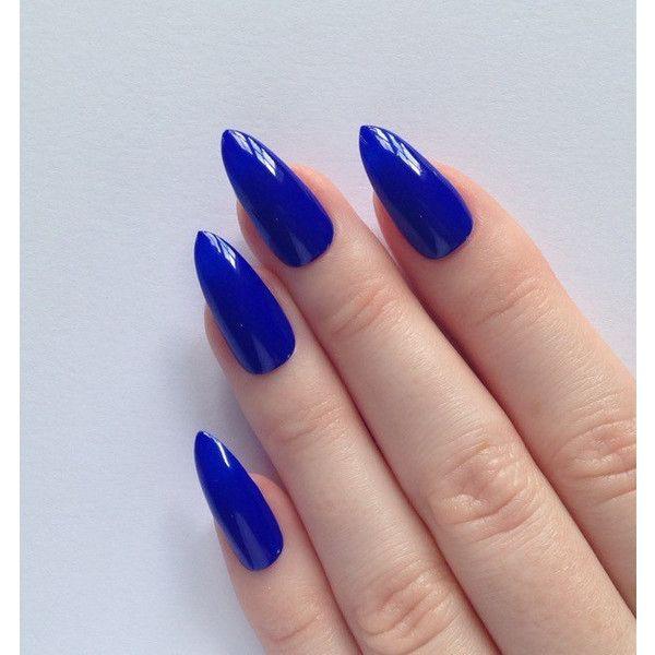 17 best ideas about blue stiletto nails on pinterest