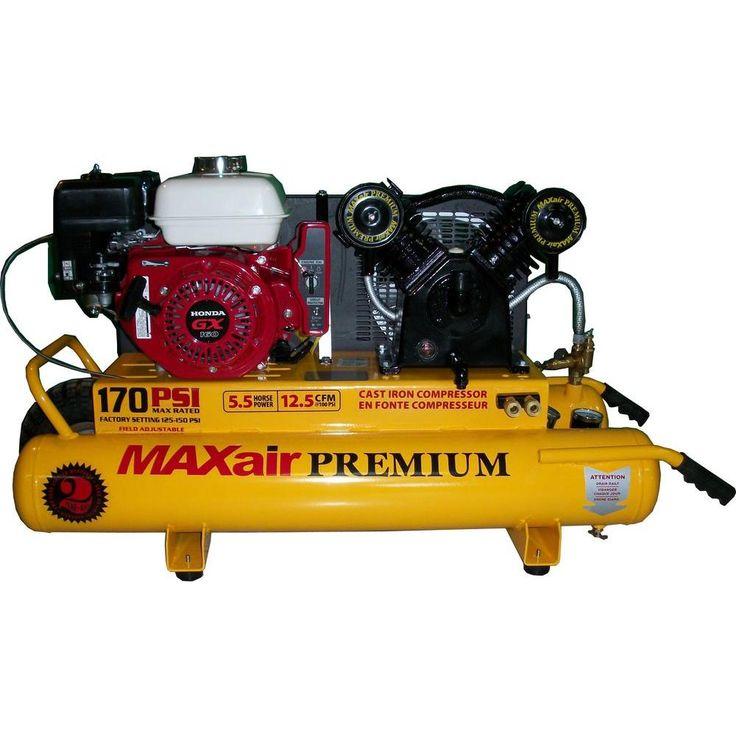Wheelbarrow Premium Industrial 10-Gal. 5.5 HP Gas Honda Air Compressor