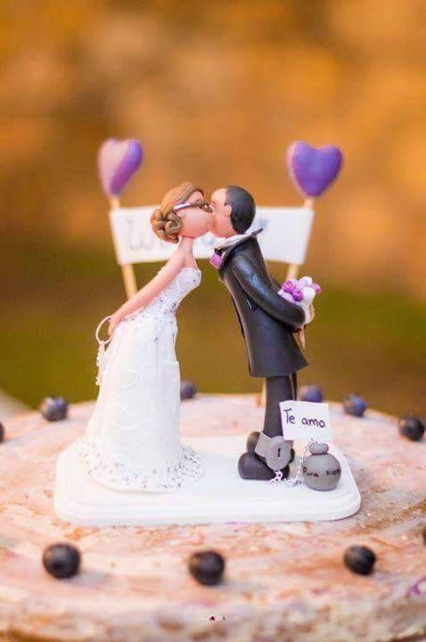 Cake topper boda wedding personalizado porcelana fria francesa