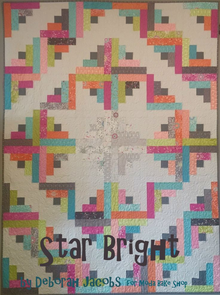 "Hello there! It's Deb from Gathering Friends. ""Star Bright"" is a very easy and simple quilt that plays with the color to make a stunning pattern. This 60″ x 80″ quilt uses the same block design throug"
