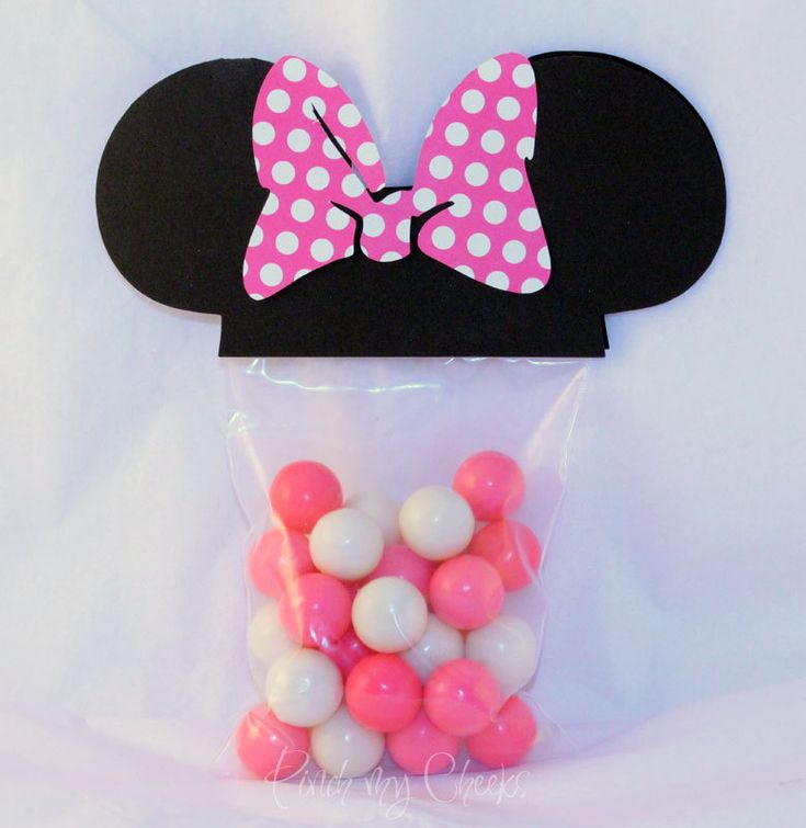 Minnie Mouse Favor Party Bags with PINK POLKA DOT bow perfect for your Party Shower 18 Count. $16.00, via Etsy.