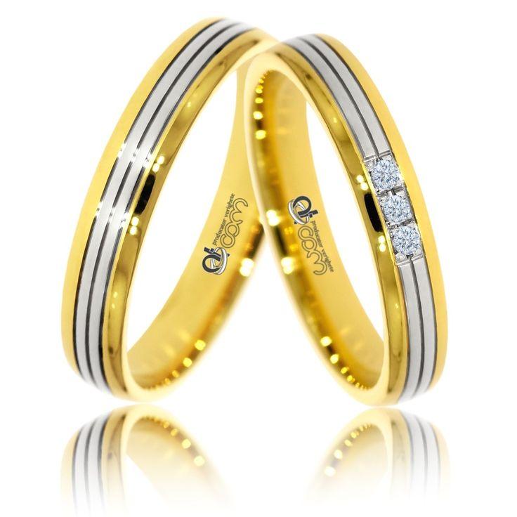 Verighete ATC407 aur galben cu alb