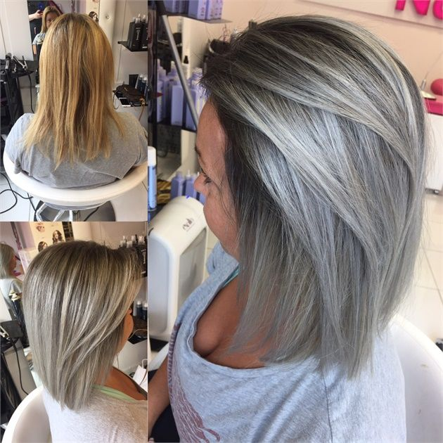 Makeover Going For A Smokey Blonde Titanium Hair Color