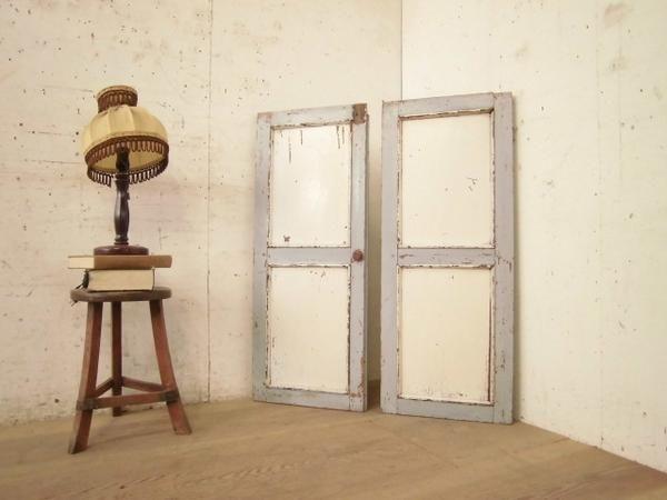 S9012枚組アンティークな木製ドア検索アトリエ建具 インテリア 雑貨 家具 Antique door ¥9500yen 〆05月10日