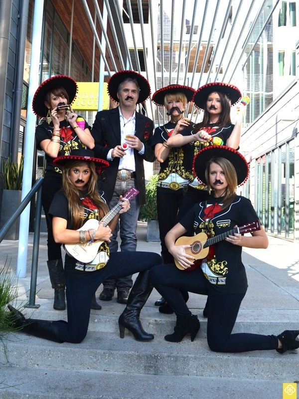 Spanish mariachi band! LOL! Can we be a mariachi band for halloween