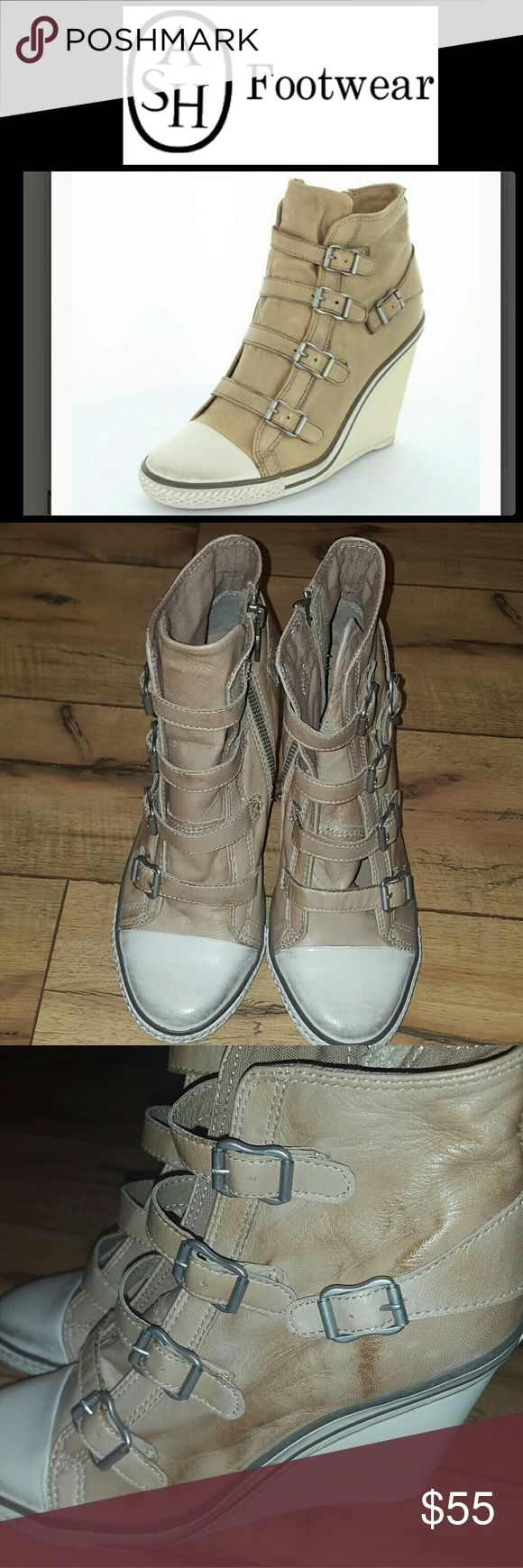 ASH SNEAKERS THELMA WEDGE SZ 38/8 GREAT CONDITION!!! SUPER SOFT LEATHER! PLEASE FEEL FREE TO MAKE AN OFFER!! Ash Shoes Wedges