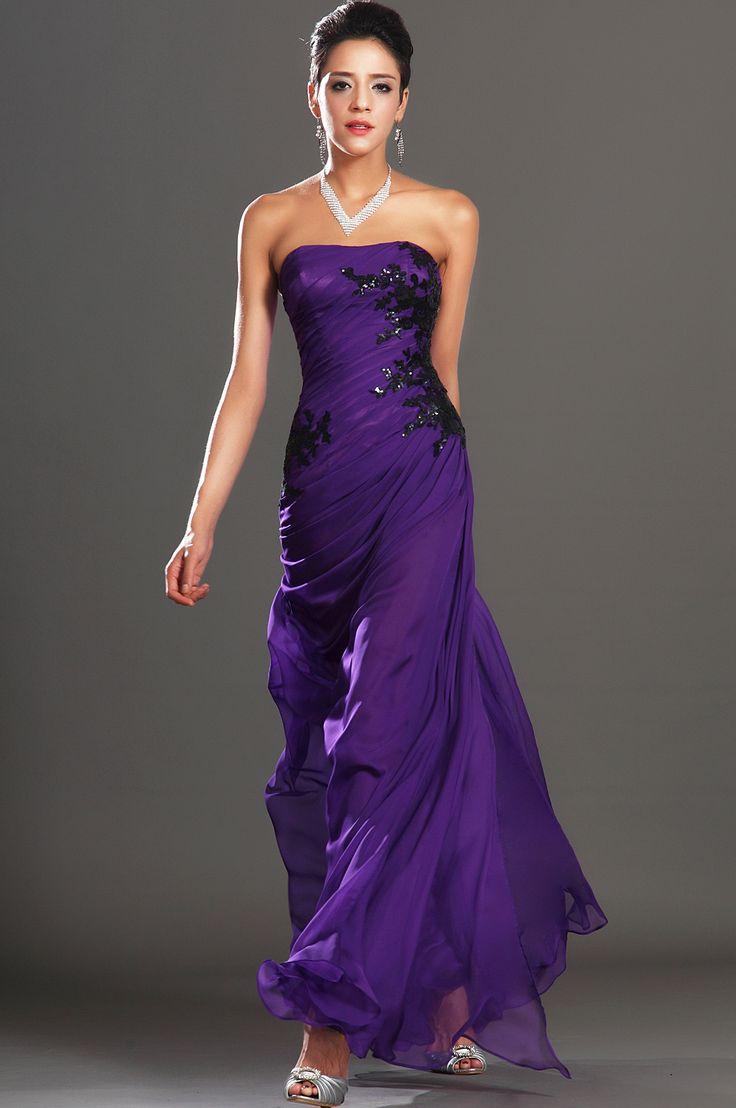 Accesorios para vestidos de noche color uva