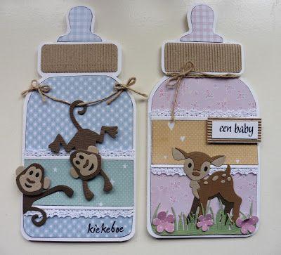 't Scrap Ateljeetje: Demo-Ochtend 11-02: Baby Boy & Baby Girl - Eline/Marianne Design