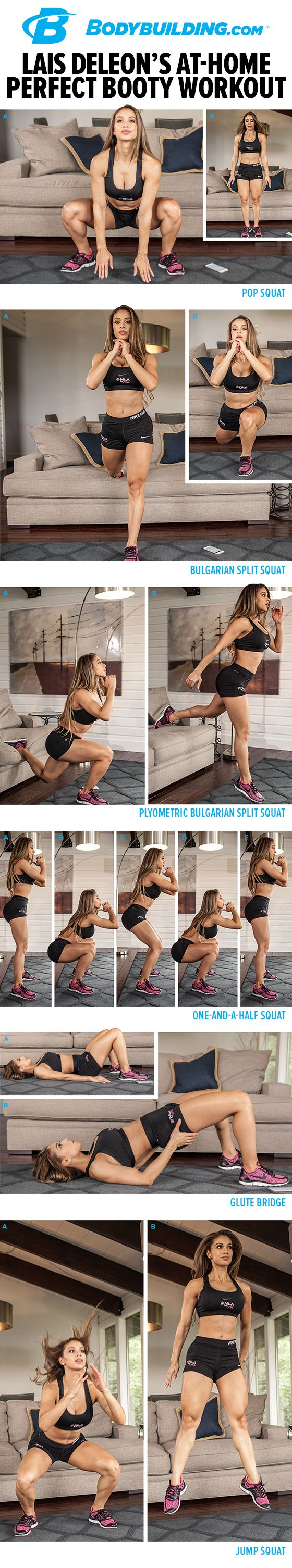 Lais DeLeon's At-Home Perfect Booty Workout! If you've got 20 minutes and a couch, you can sweat your way to a stronger lower body and better booty!: